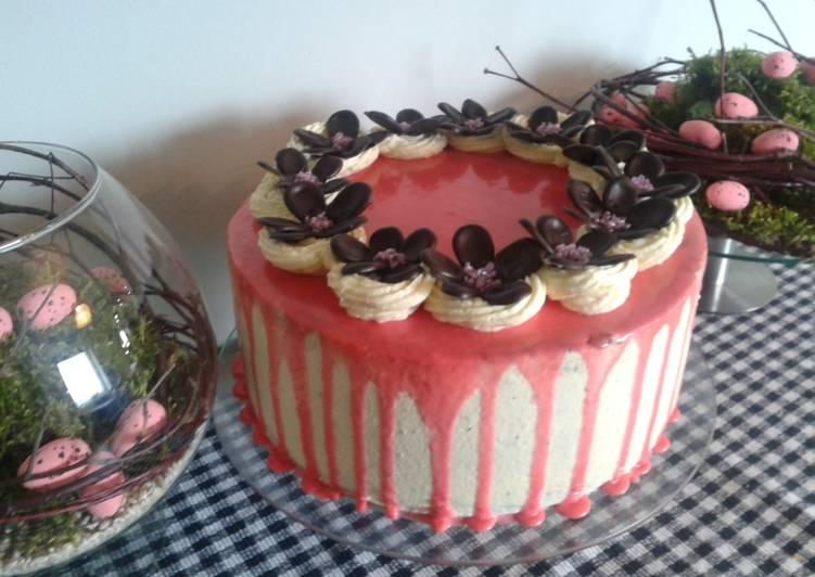 Tort urodzinowy różowy