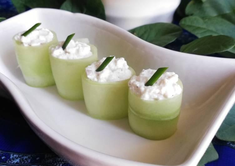 Recipe: Delicious Roulé de concombre à la ricotta
