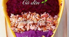 Hình ảnh món Cháo cá hồi nấu củ dền và khoai mỡ