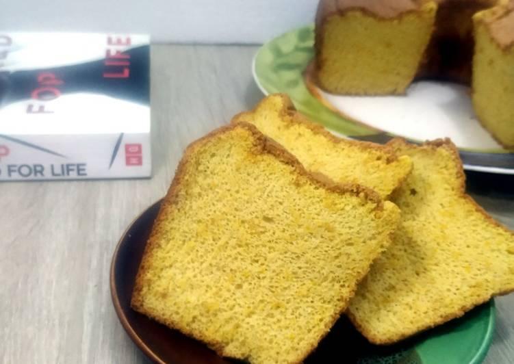 Chiffon Labu Kuning (gluten free) - cookandrecipe.com