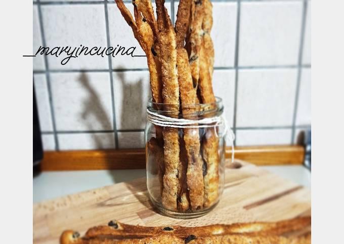 Ricetta Grissini Bonci.Step By Step Guide To Make Ultimate Grissini Con Farina Integrale E Olive Nere Pizzaris
