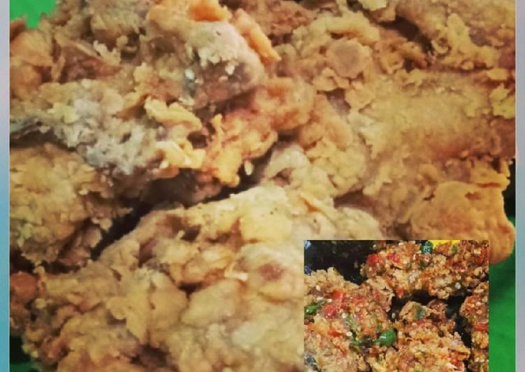 Ayam goreng tepung a.k.a ayam crispy & Ayam geprek