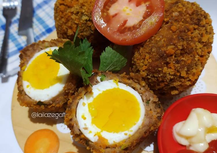 Beef Scotch Egg With Carrot 🥕