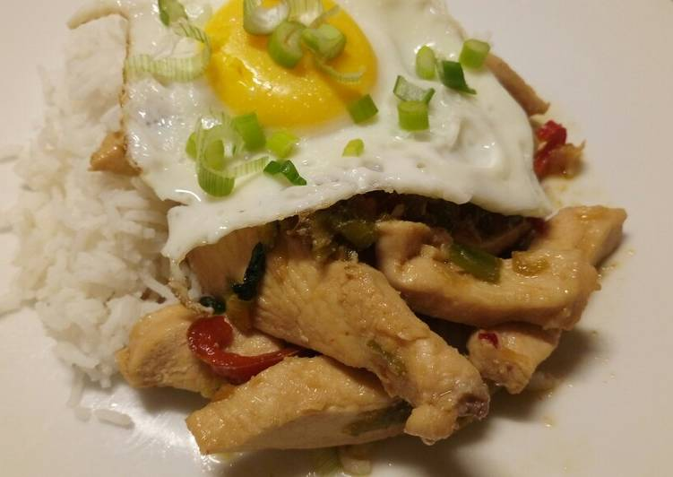 Yui inspired chicken and peppers