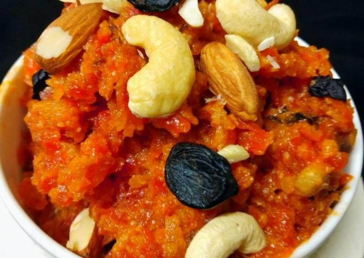 Carrot halwa with milk recipe