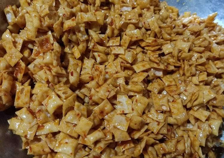Sambal goreng kulit pangsit