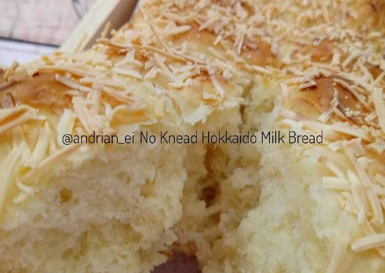 No Knead Hokkaido Milk Bread (Overnight - Tanpa Ulen)