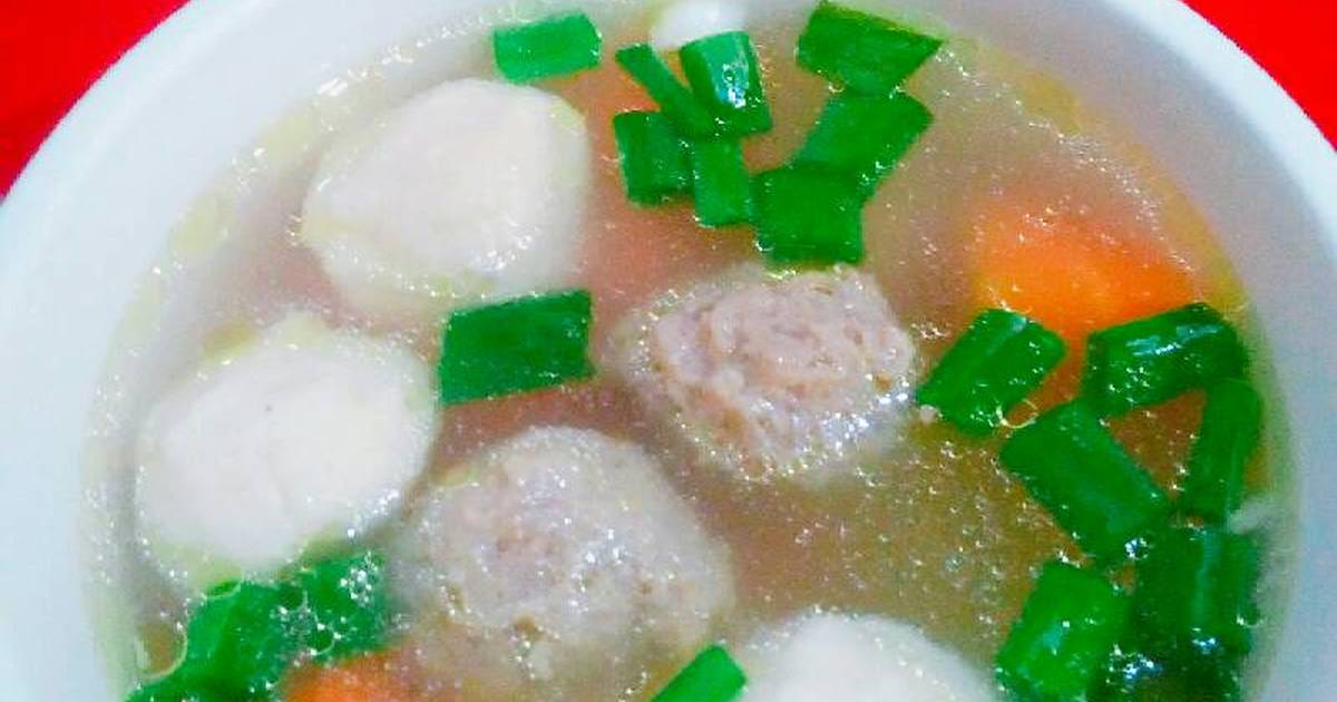 Resep Sayur Sop Bakso Ikan Bakso Sapi Oleh Maria Crishtabella Cookpad