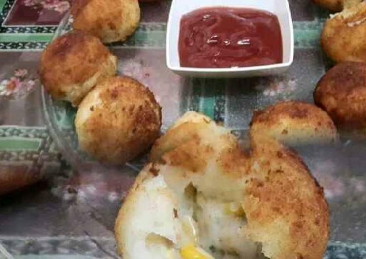 Recipe of Award-winning Potato Cheese Corn Balls