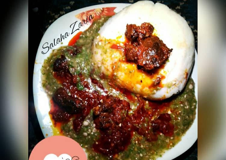 Recipe of Perfect Semolina & white okra soup,Garnish with stew #Zerohungernigeriaby2030ispossible#