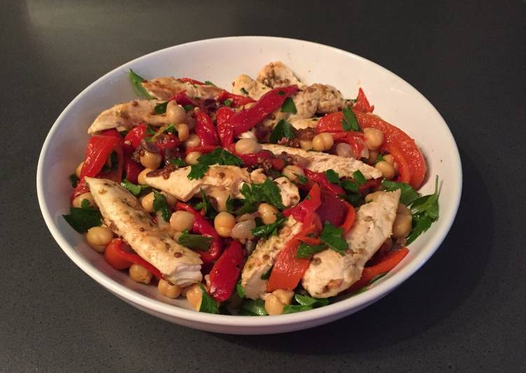 How to Cook Yummy Coriander and lime chicken with chickpea salad