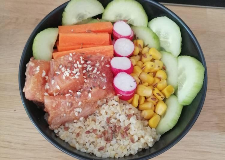 Pokebowl saumon recette hawaïenne