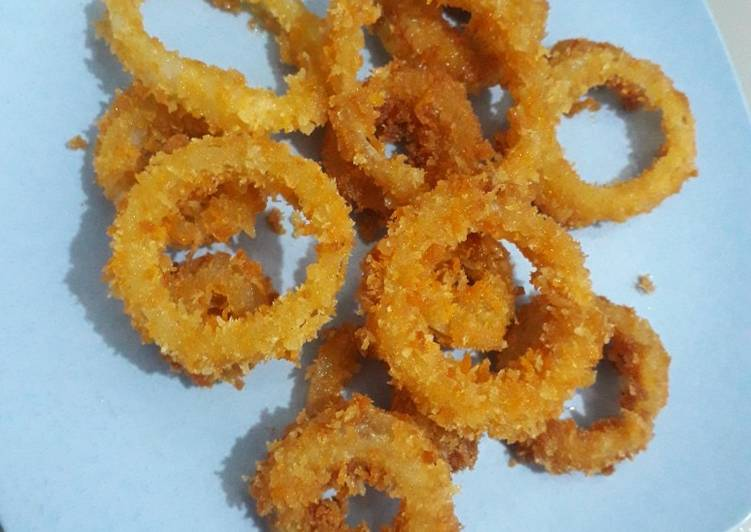 """Camilan: """"Onion Ring"""" super simplee"""