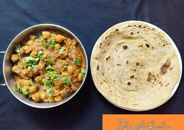 25 Minute Steps to Prepare Spring Chole with lachha paratha