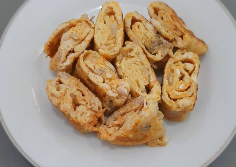 Resep Telur gulung ayam wortel sarapan singkat cepat untuk anak-anak Bikin Ngiler