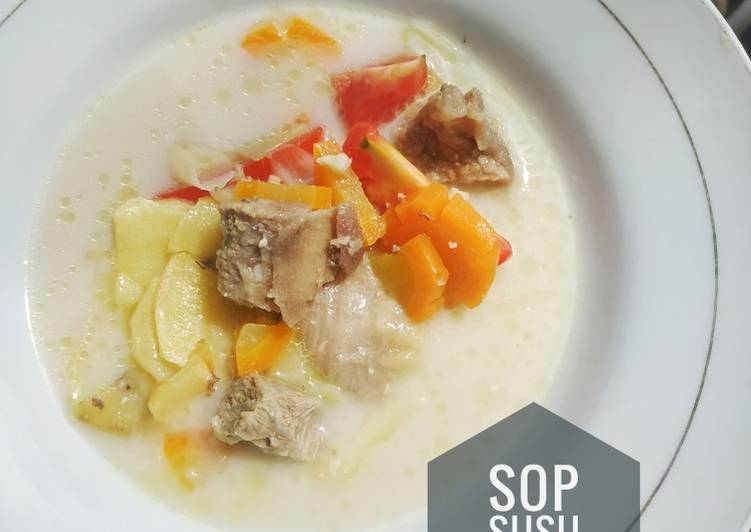 Sop Susu Sapi Sederhana