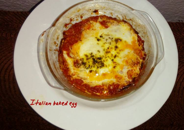 How to Make Super Quick Homemade #Italian baked egg