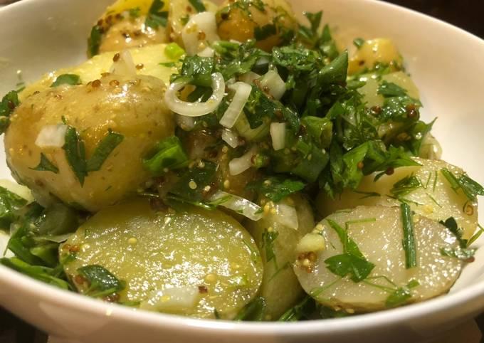 Potato Salad with Mustard & Herbs