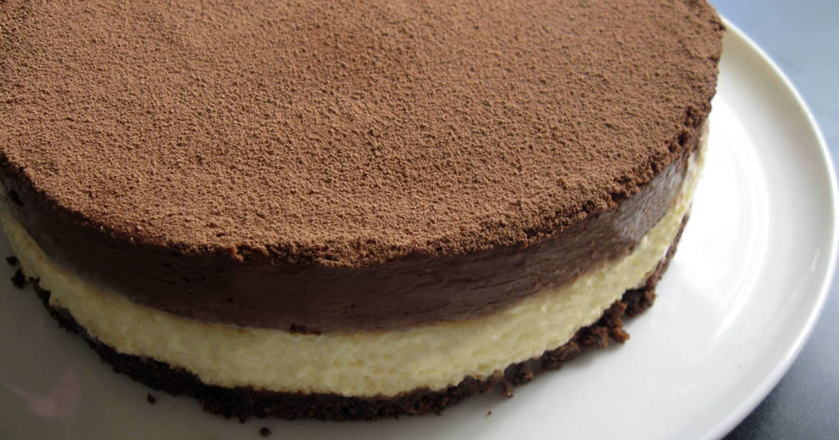 Cream Cheese Mousse & Chocolate Mousse Cake