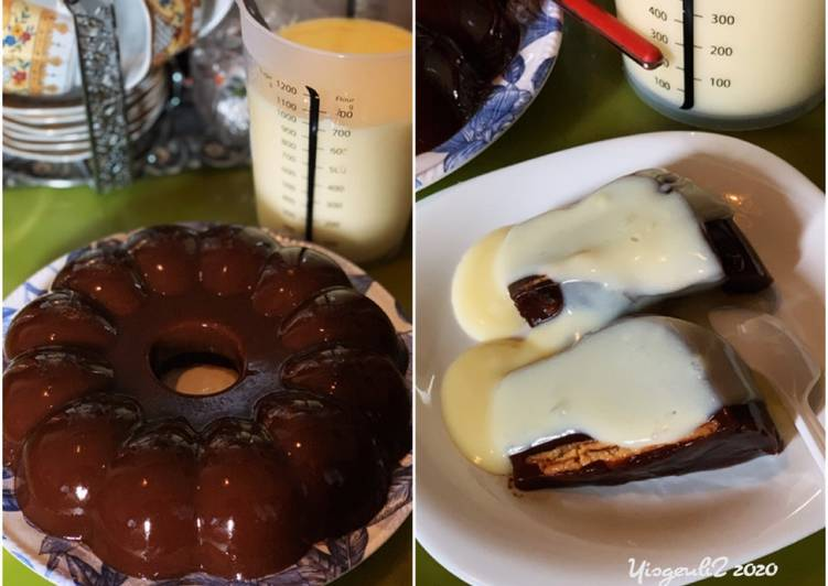 Puding Coklat Regal + Vla Susu