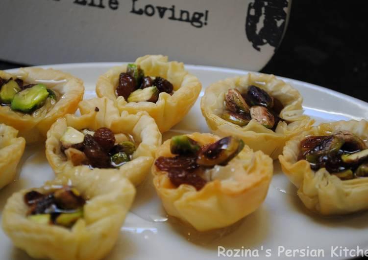 Step-by-Step Guide to Prepare Super Quick Homemade Raisins-Pistachio Baklava