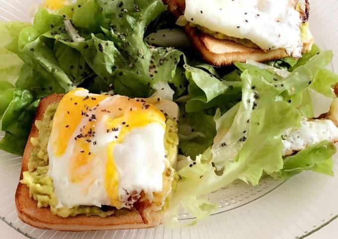 Salade toast avocat œuf rapide et simplissime