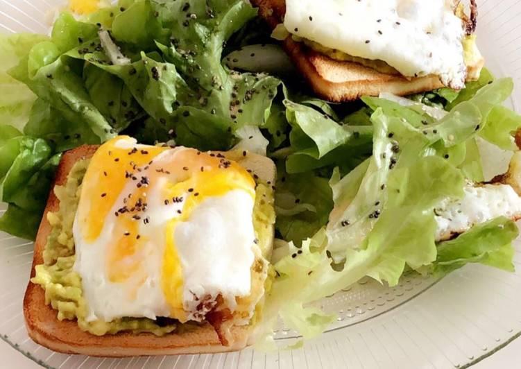 Recette Délicieuse Salade toast avocat œuf rapide et simplissime