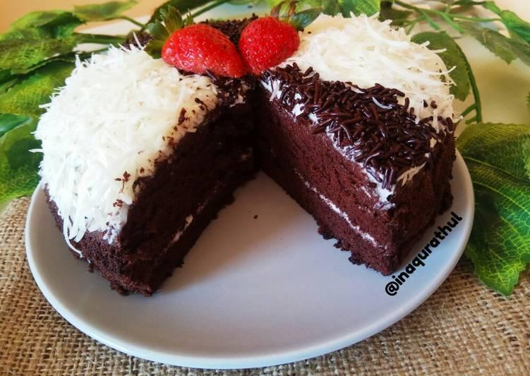 Simple Bday Cake (Bas cake brownies kukus) - cookandrecipe.com
