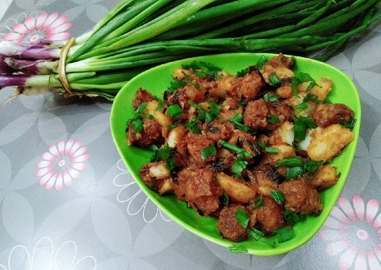 Indo - Mexican style potato soya chunk