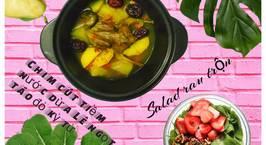 Hình ảnh món Chim cút tiềm nước dừa Lê ngọt  táo đỏ kỷ tử