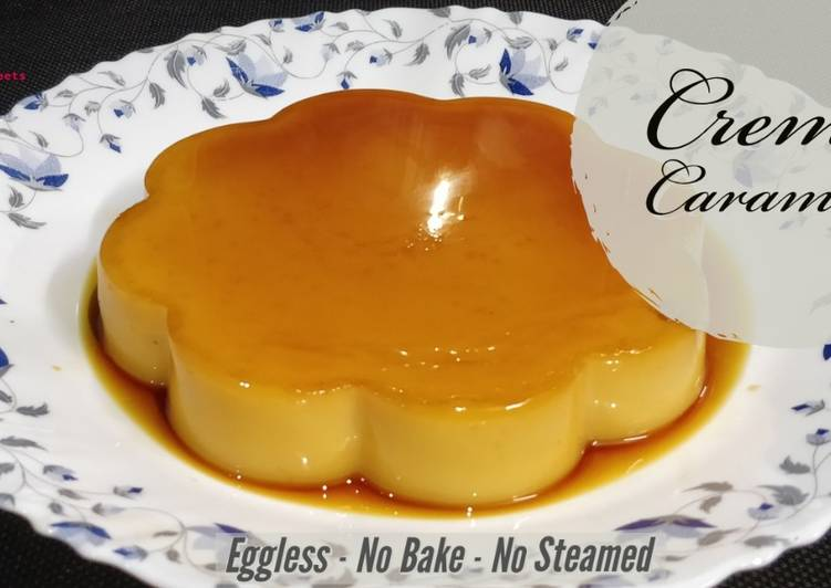Eggless Creme Caramel Pudding