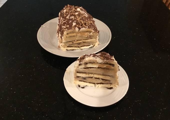 Mocha Chip Ice Cream Sandwich Layer Cake