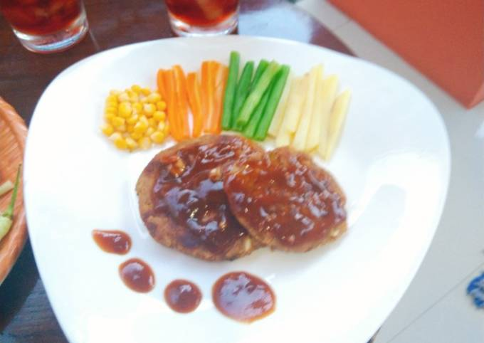Steak tempe ala resto