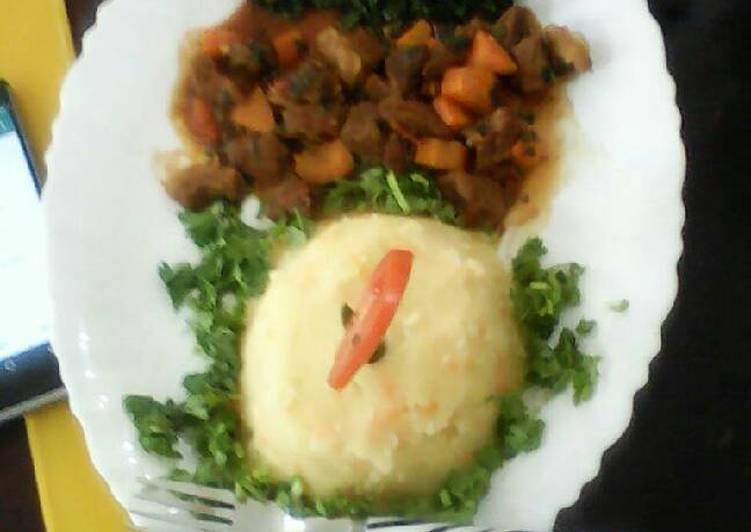 Rice and beef stew