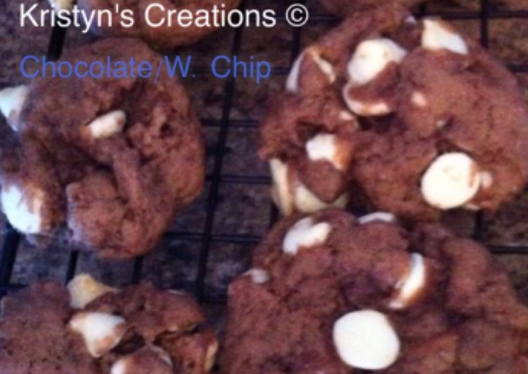 Chocolate Cookies with White chips