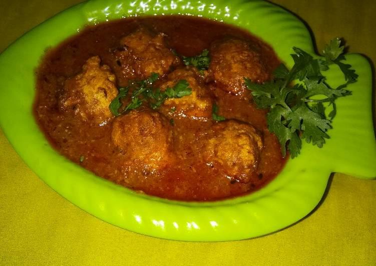 Recipe of Any-night-of-the-week Onion kofta Curry