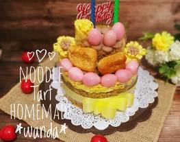 Noodle Tart a.k.a Tart Mie Ulang Tahun / noodle cake