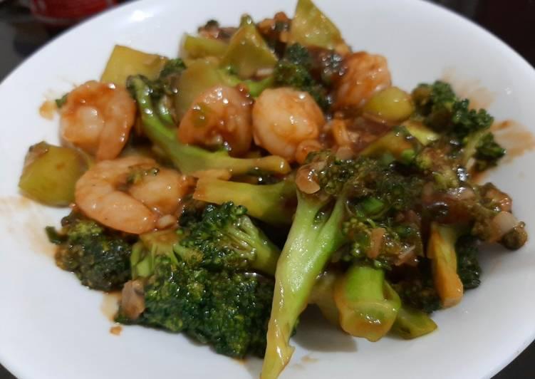 Brokoli udang garlic sauce