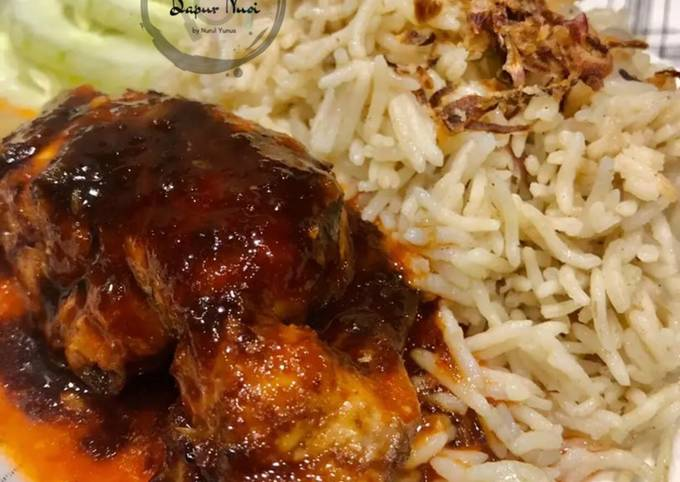 Resepi Nasi Ayam Butter Special + Ayam Goreng Madu