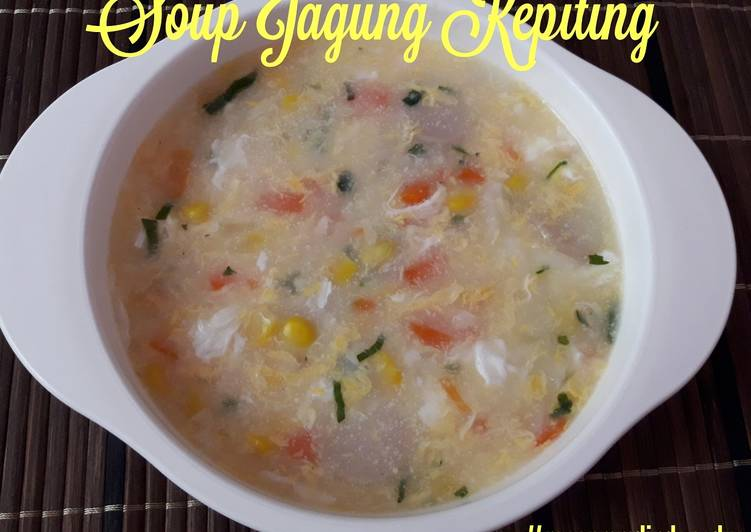 Soup jagung kepiting