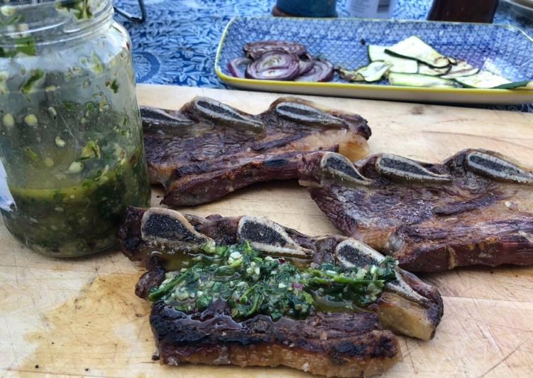 BBQ short rib & chimichurri dressing