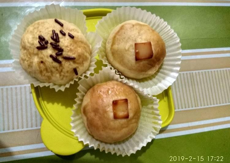 Roti mini isi tanpa telur