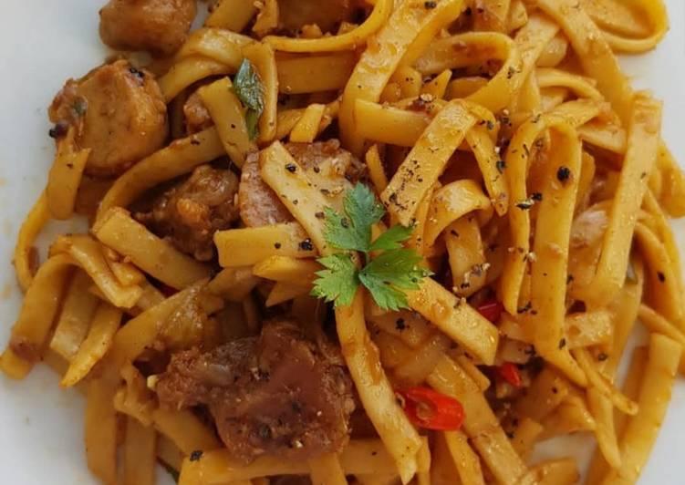 Resep Unggulan Fettucine Sapi Lada Hitam Enak Banget Resep Masakanku