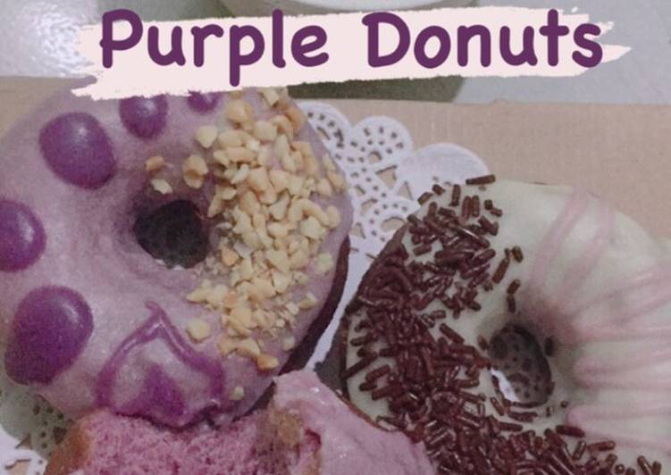 Donat Ungu Ekonomis + Simple Glaze