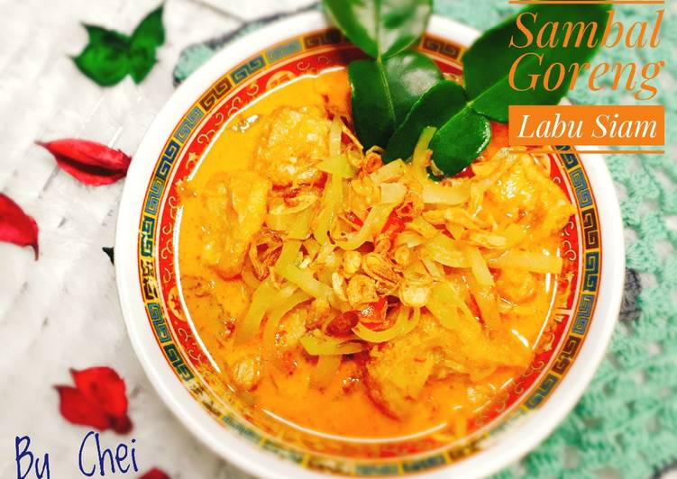 Sambal Goreng Labu Siam Crunchy Sedap