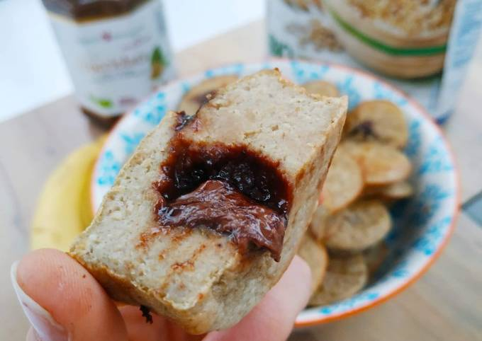 Muffins à la banane, cœur fondant au Nocciolata