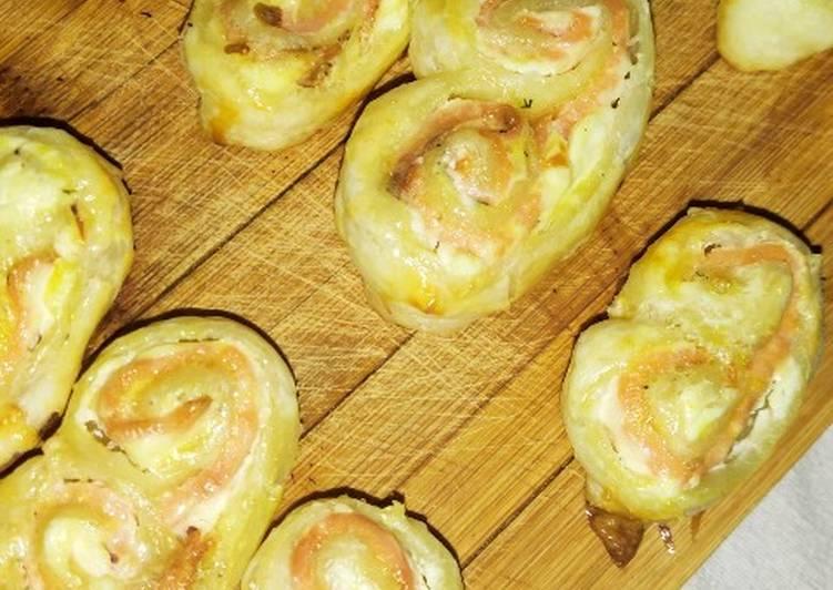 ♨️ Palmier maison au fromage à tartiner & saumon fumé ♨️