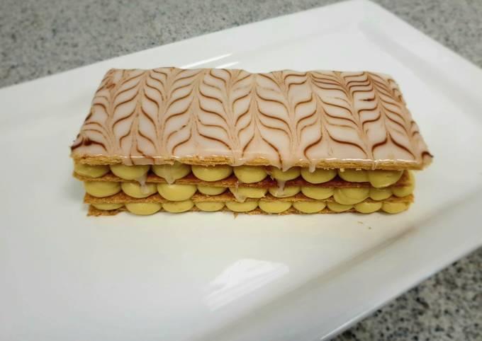 Mille feuille or custard slice