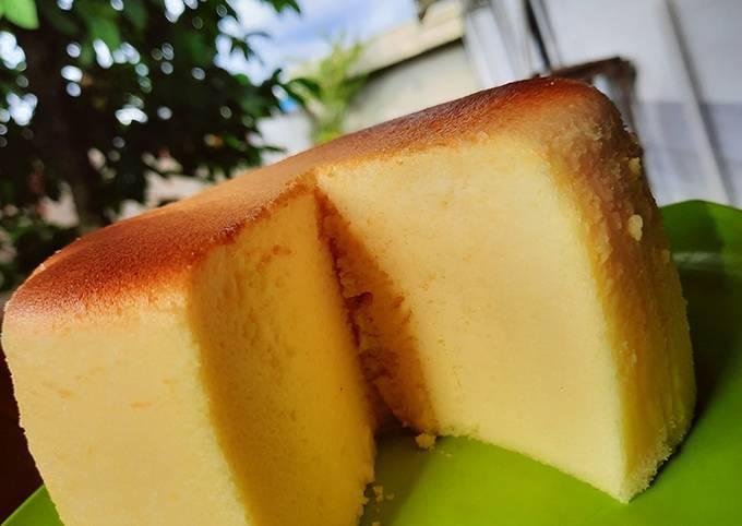 Japanese cheddar cheesecake