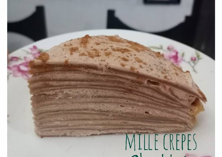 Chocolate Mille Crepes ala bundakeia